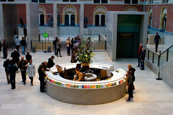 Museumplein, Amsterdam, The Netherlands, December 2013 - January 2014, Rijksmuseum Passage View into lobby