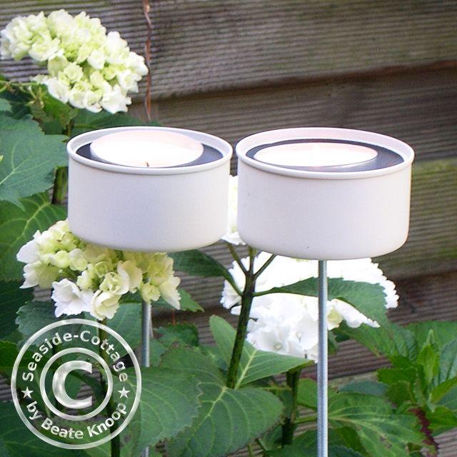 Seaside-Cottage-Blog: Upcycling DIY: Gartenlichter aus Thunfischdosen