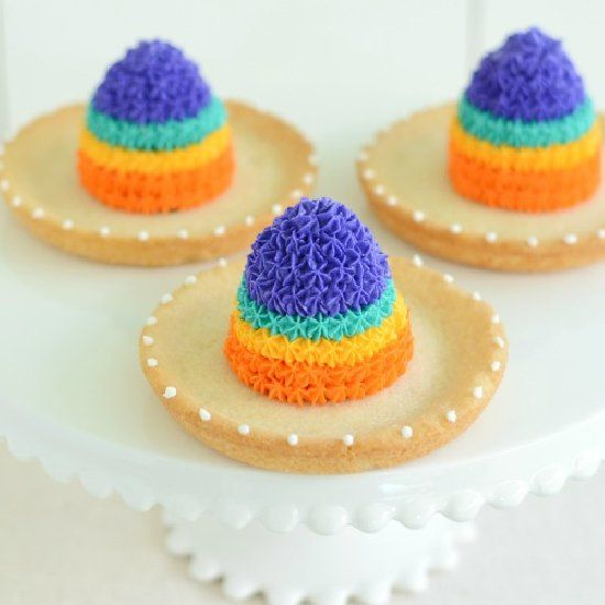 Olé! These sombrero cookies are perfect for you next fiesta!