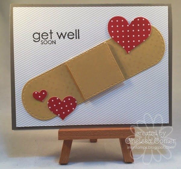 Chelsea's Creative Corner: Ouch ... Get Well! ... Fun card using the A Muse Studio Candy Package Die in a different way.