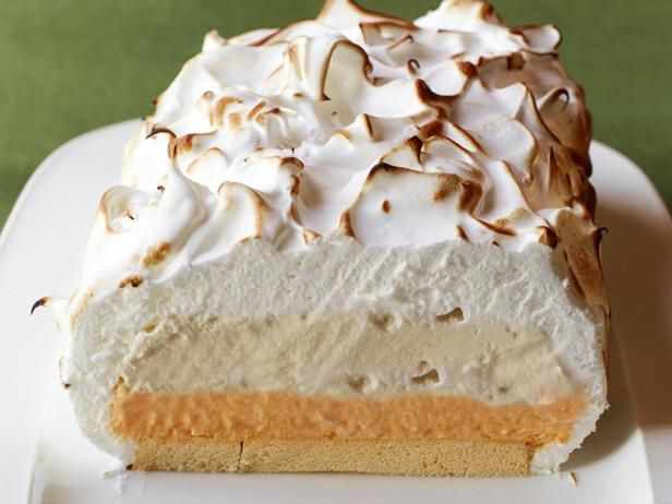Easy Baked Alaska from #FNMag: Food Network, Network Kitchen, Baked Alaska Recipe, At, Frozen Desserts, Ice Cream Cakes, Sweet Tooth, Pound Cake, Bakedalaska