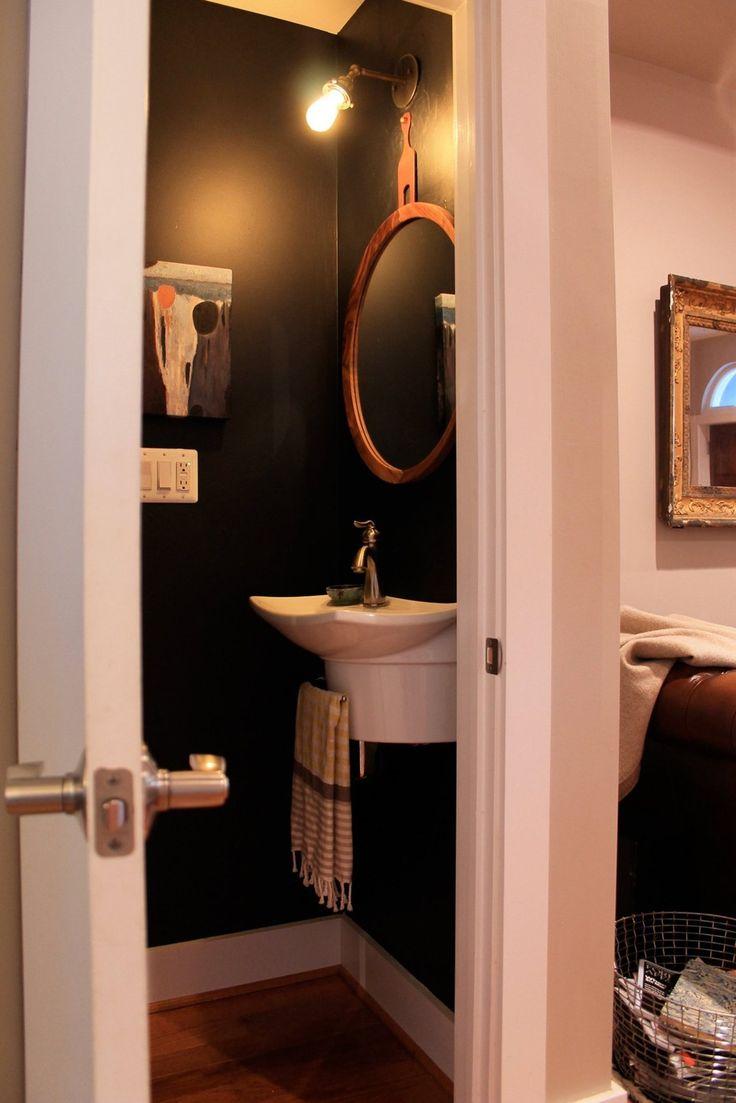 3421bd bathroom vanity ideas - Rachel Tiernan S Textured Townhouse Love The Use Of A Very Dark Glossy Wall