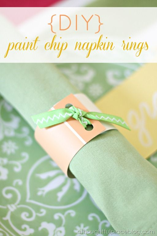 A Thoughtful Place: Bright and Colorful Table & DIY Napkin Rings