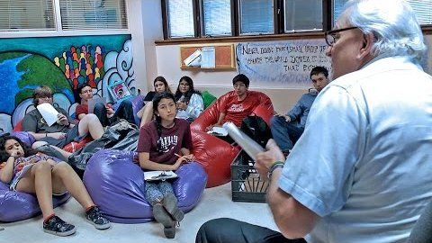 In an ungraded weekly seminar throughout their freshman year, incoming students at High Tech High School learn about each other, themselves, and their academic community.