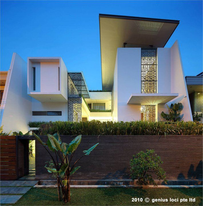 Modern House Exterior Design Modern Tropical House Design: 414 Best Contemporary Indonesian Architecture Images On