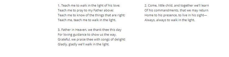 #THANKFUL FOR HYMN #304 https://www.lds.org/music/library/hymns/teach-me-to-walk-in-the-light?lang=eng