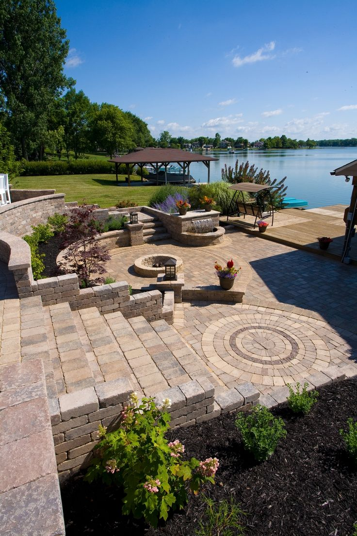 Brick Paver Patio With Fire Pit Cost: 74 Best Images About Unilock Brick Pavers On Pinterest
