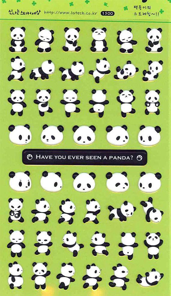 Korean Scrapbook Diecut Puffy Stickers Cute by scrapbooksupply, $1.75