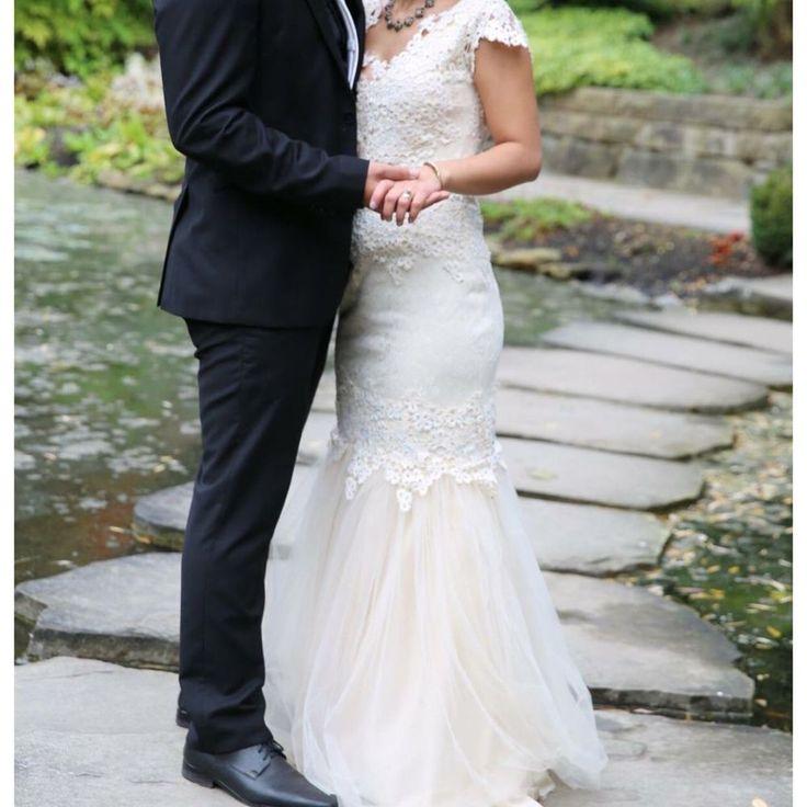 Bodenlanges Hochzeitskleid | gefunden auf gebraucht.de