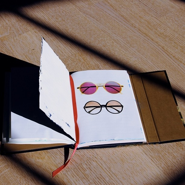 Sunglasses drawn into a Paperblanks journal   From Instagram by @brunnenkind
