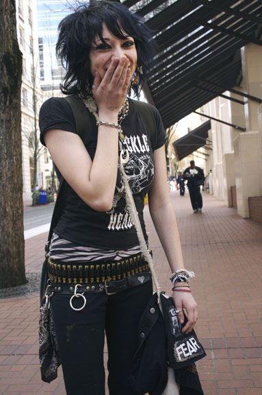 Cool #goth girl on the street
