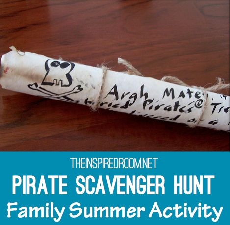 We put together this Pirate Scavenger Hunt for our son one summer and it created a memory we will never forget!   This scavenger hunt is an affordable, and really fun, creative activity for kids on summer vacations, perfect for birthday parties, or family nights!