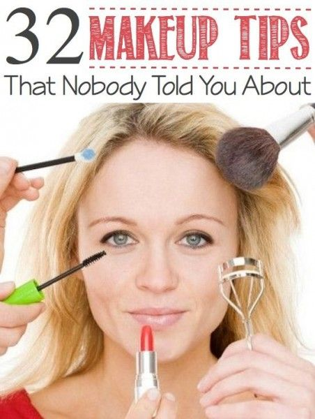 32 Makeup Tips that Nobody Told You About!! Totally read them and will be putting them to use!!!