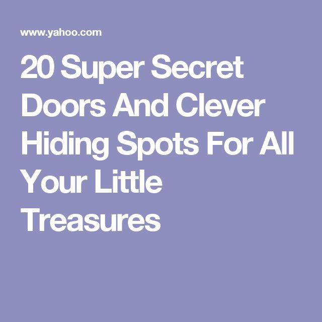 20 Super Secret Doors And Clever Hiding Spots For All Your Little Treasures