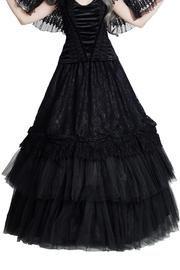 PRE-ORDER Felicity Black Gothic Skirt by Sinister