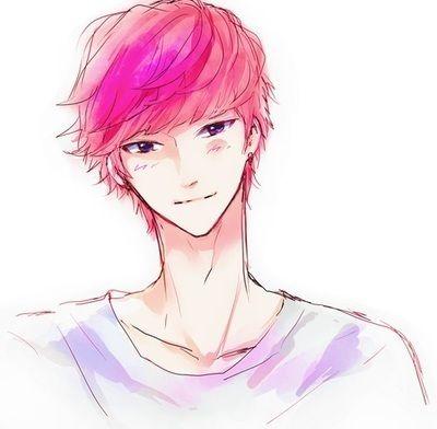 anime boy pink hair - google
