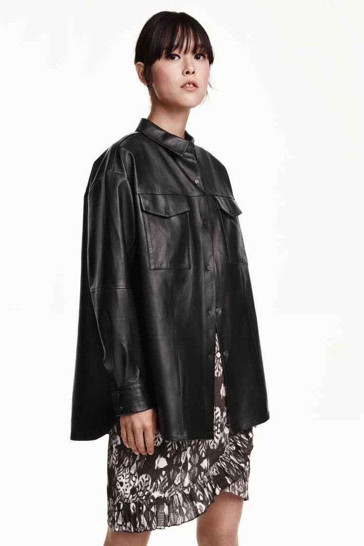 Skórzana koszula | H&M