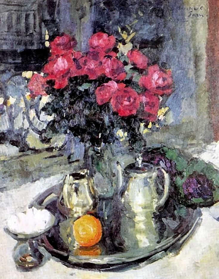 The Athenaeum - Roses and Violets (1912) (Constantin Alexeevich Korovin - )