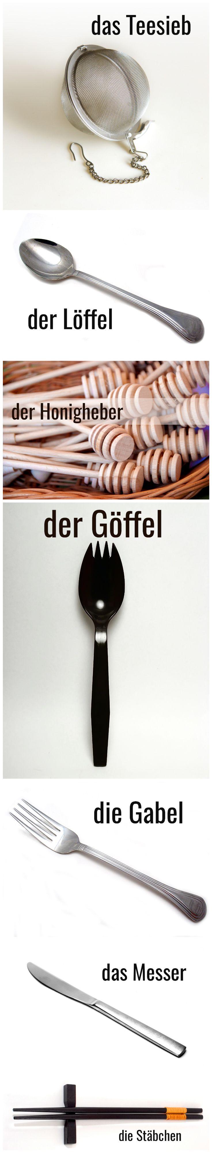 Besteck #Deutsch #German #Wortschatz