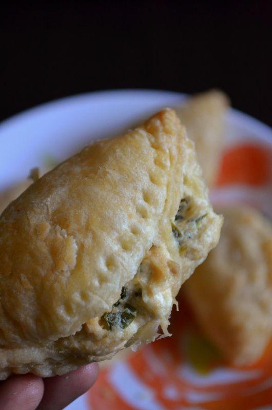 For the Love of Dessert: Chicken Poblano Cream Cheese Empanadas