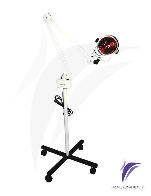 Lámpara Infrarroja con Pedestal Starwork: Equipo emisor de luz infrarroja y rotación de 360º con temperatura graduable. Favorece la vasodilatación para la aplicación de diferentes tratamientos terapéuticos y estéticos.