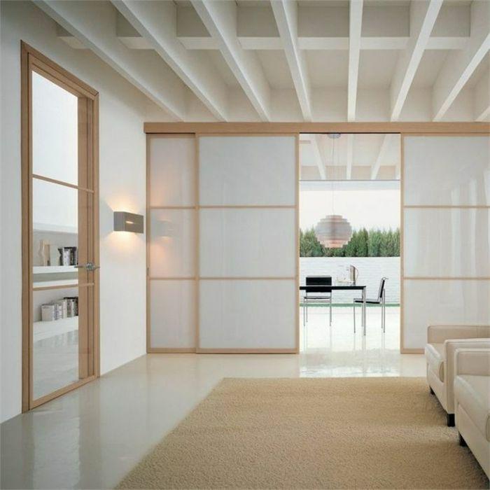 salon de couleur taupe avec décoration japonais