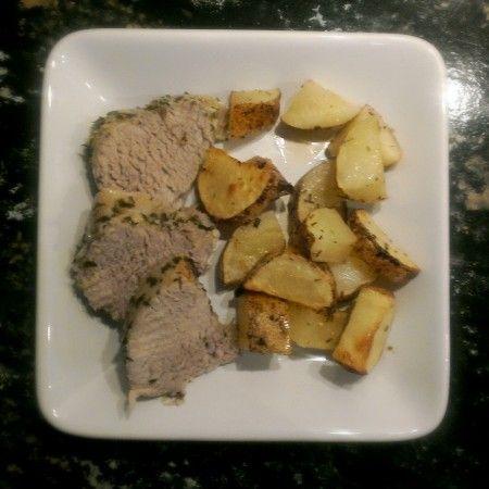 Lemony Marinated Pork Tenderloin from Bountiful Baskets Food Co-op