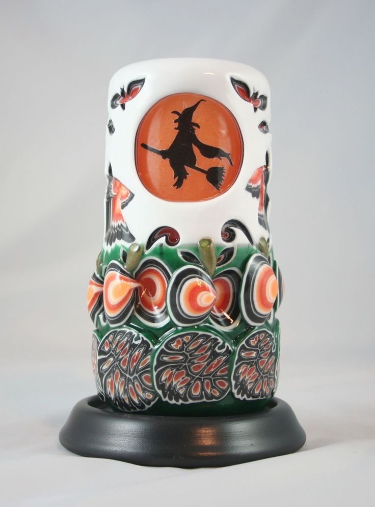 Halloween | Holland House Candles. Hand carved by my baby girl!