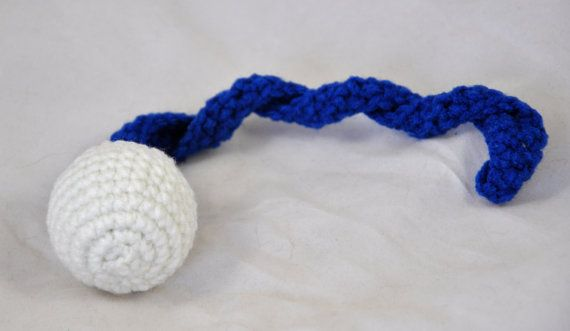 NFL Indianapolis Colts - Crochet Cat Toy - Jingle Ball Snake - Homemade Cat Toy - Unique Cat Toys - Cat Ball - Cat Toys - Crochet Balls - L3