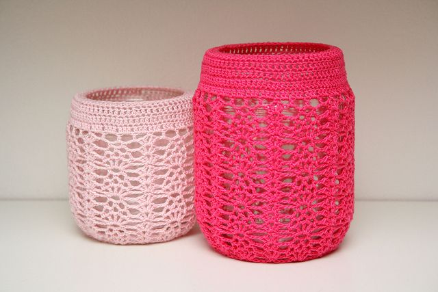 Crocheted Jar Cover | Flickr - Photo Sharing!