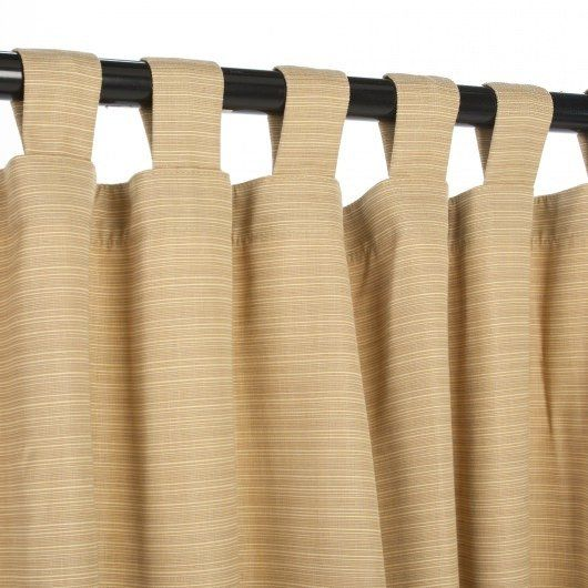 Dupione Bamboo Sunbrella Outdoor Curtains Tab Top