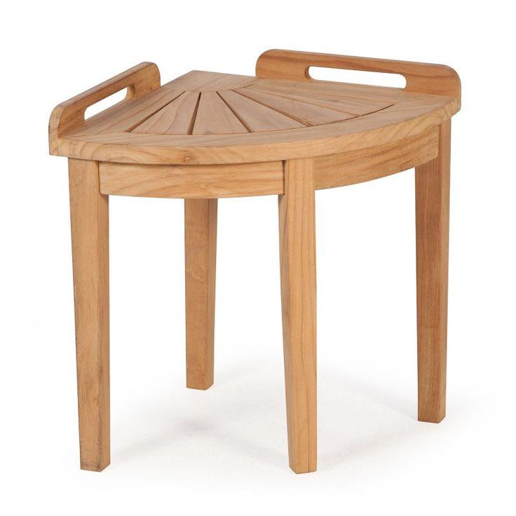 Belham Living Teak Corner Shower Stool - VFS-GO10HD Durable  sc 1 st  Pinterest & Best 25+ Shower stools ideas on Pinterest | Shower seat Shower ... islam-shia.org