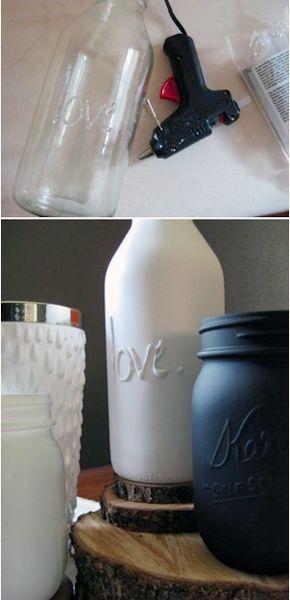 So werden aus normalen Glasflaschen tolle Dekoartikel