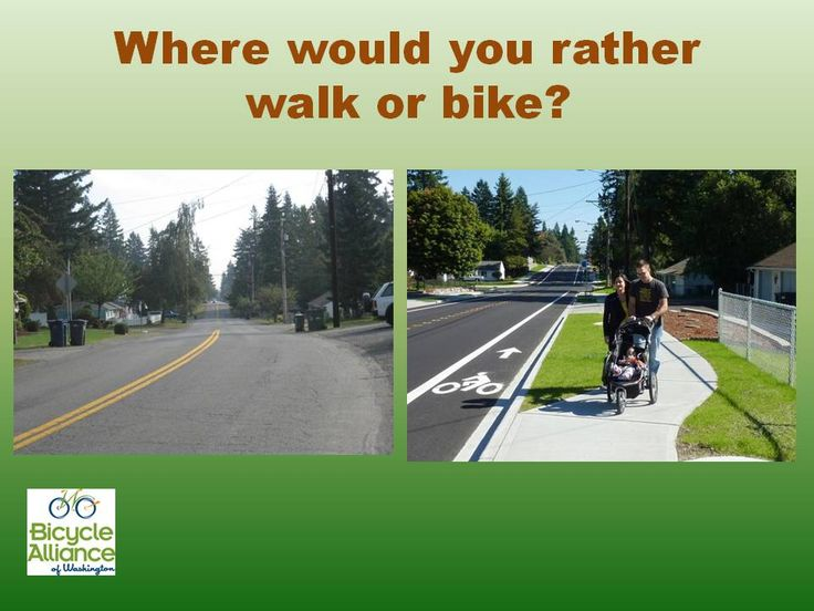 Complete streets create safe places for people to walk and bike.