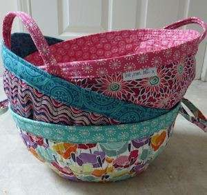 Project Baskets Sewing Pattern for quilting by Beth Studley