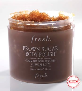 Amazing for the shower. Scrubs your skin then moisturizes.