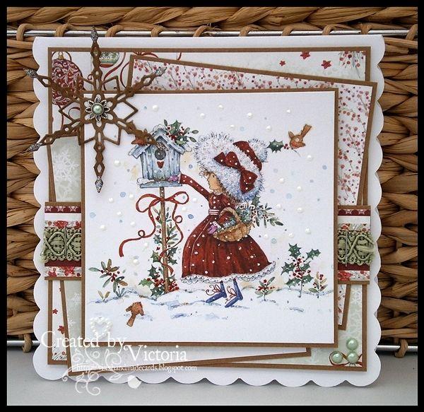 Vixx Handmade Cards: WILD ROSE STUDIO DT CARD ~ ANNABELLE'S CHRISTMAS