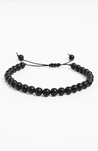 Free shipping and returns on ZACK Onyx Bead Bracelet at Nordstrom.com. Small beads made from semiprecious onyx define a matte-black bracelet that's easy to adjust for quick styling. Each Zack piece is handmade in the company's New York studio.