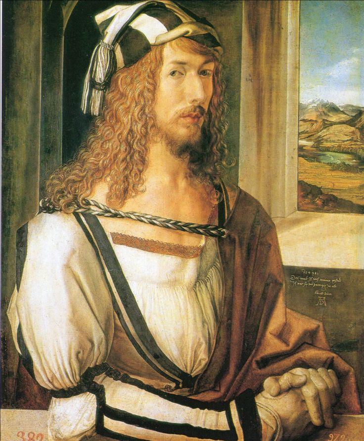 ヂューラー 1498 26歳の自画像 マドリード・プラド美術館