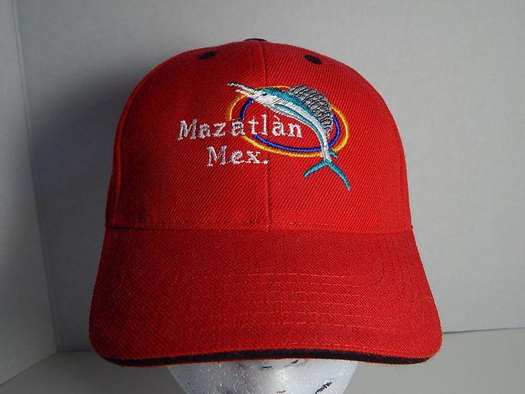 MAZATLAN MEXICO Sailfish Red Adult Baseball Cap Hat #Mazatlan #Mexico #Hat #Cap #Sailfish