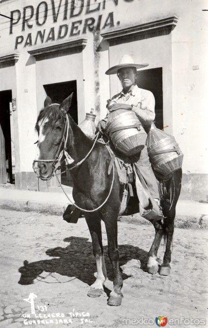 Un lecherotípico en Guadalajara, Jalisco (c. 1940).