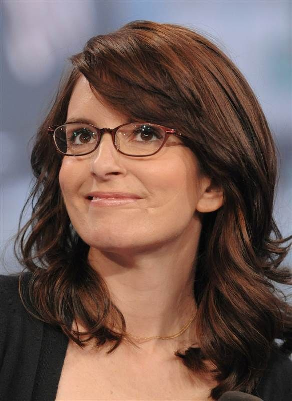 Tina Fey makes an appearance on MTV's Total Request Live at MTV Studios in New York on April 22, 2008.
