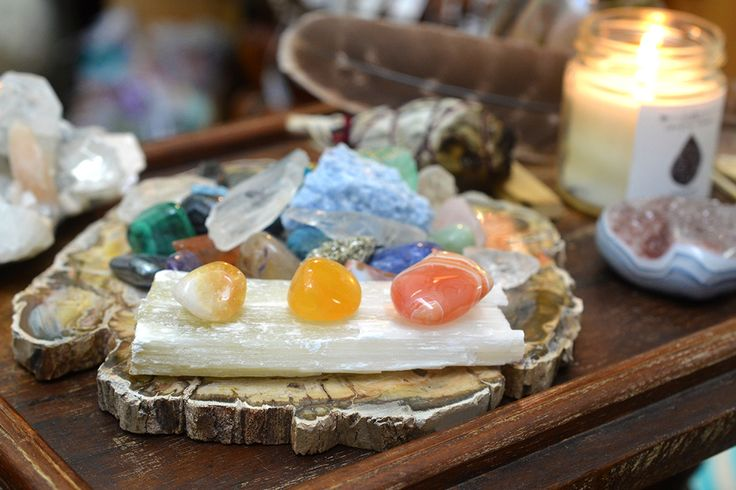 Create a #crystal #altar to hold the space for your intention. It's a sacred way to invite spiritual energies into your space and reinforce.