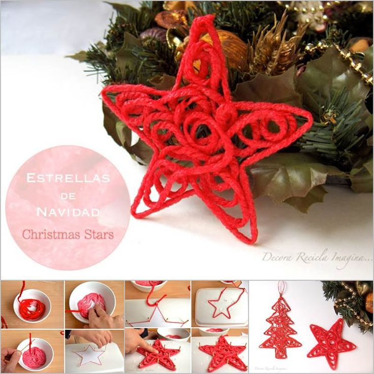 Creative Ideas - DIY Yarn Christmas Star | iCreativeIdeas.com Follow Us on Facebook --> https://www.facebook.com/iCreativeIdeas