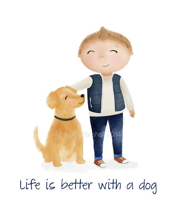 ♥ Boy and Dog ♥ Unframed Nursery Art Print by Sweet Cheeks Images. $12.00 AUD