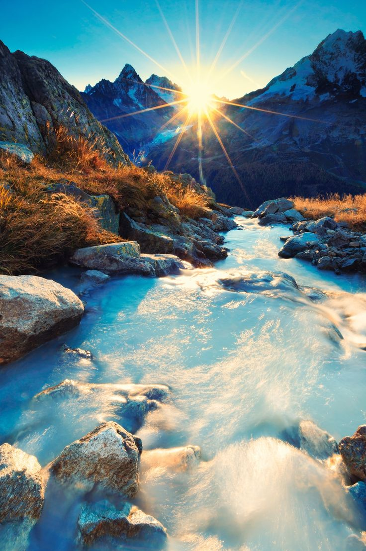 France -- Sunrise ........ Alps --  Chamonix mont blanc