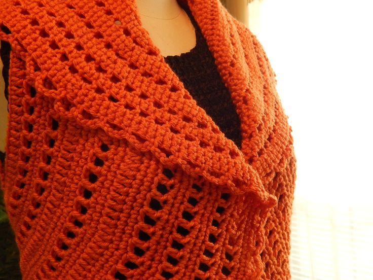 Bolero Chaleco Mandarina Crochet parte 2 de 3