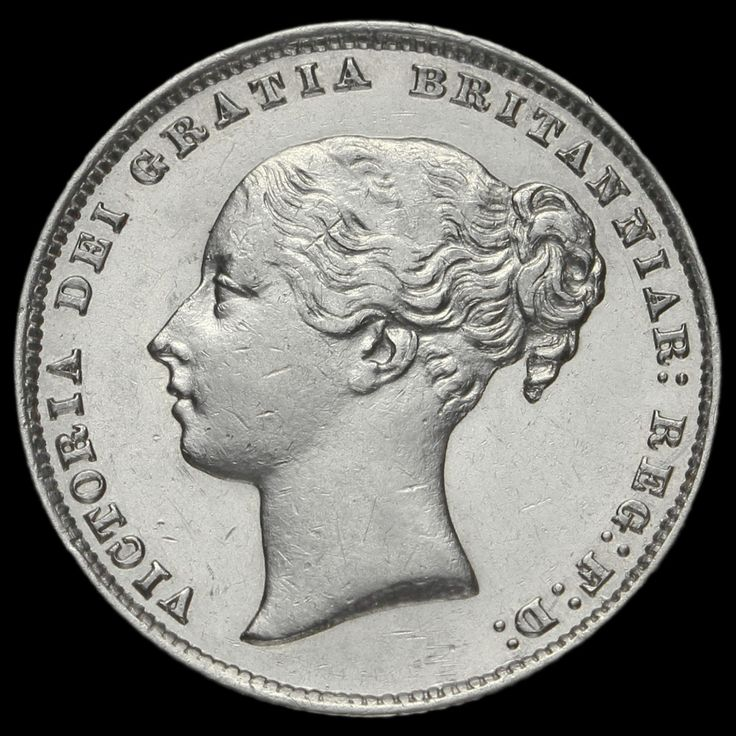 1864 Queen Victoria Young Head Silver Shilling