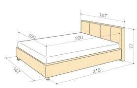Картинки по запросу размеры каркаса кровати