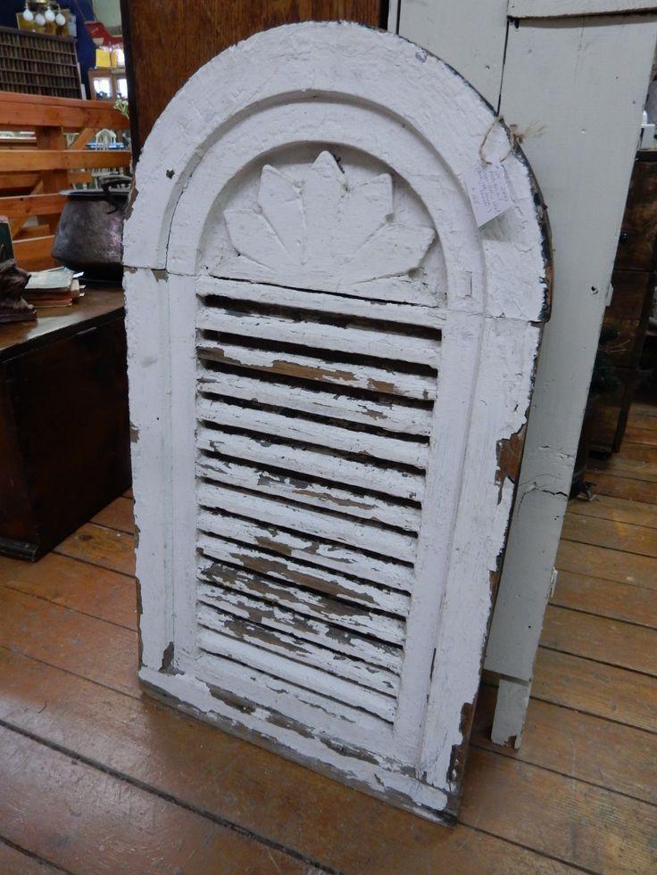 Victorian attic vent architectural salvage pinterest for Gable pediments for sale